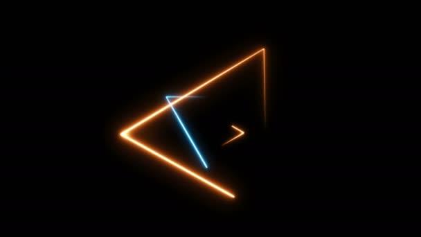 nahtlose Schleife abstrakter Hintergrund mit bunten Neon-Dreiecken
