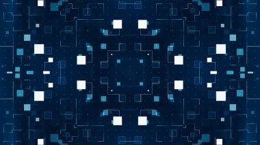 Technology pattern. 3d illustration abstract technology background
