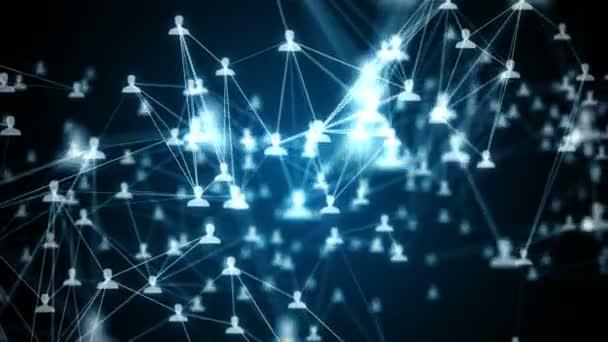 Nahtlose Verbindung von Menschen im Internet, Soziales Netzwerkverbindung animation