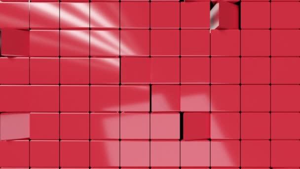 Kovové abstraktní kostky se otáčí, bezešvé smyčky 3d vykreslování