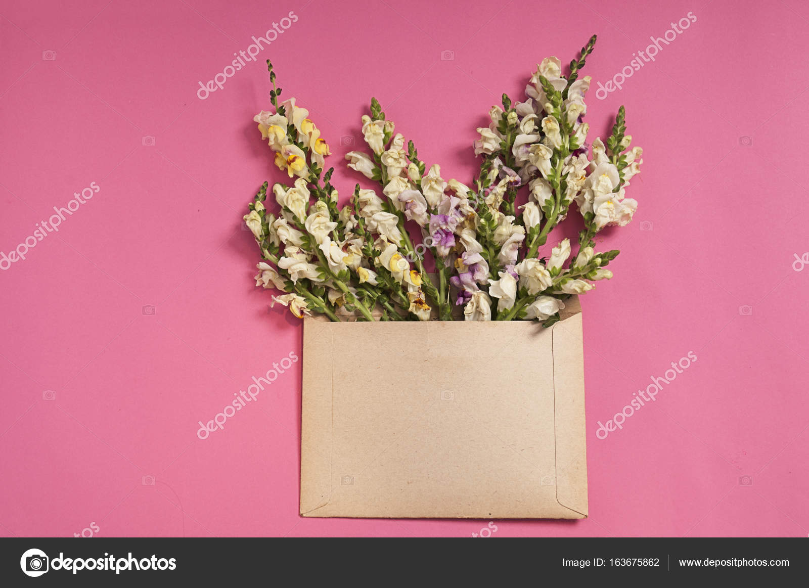 Flowers Composition Gifts Heart Shaped Flowers Envelope Pink