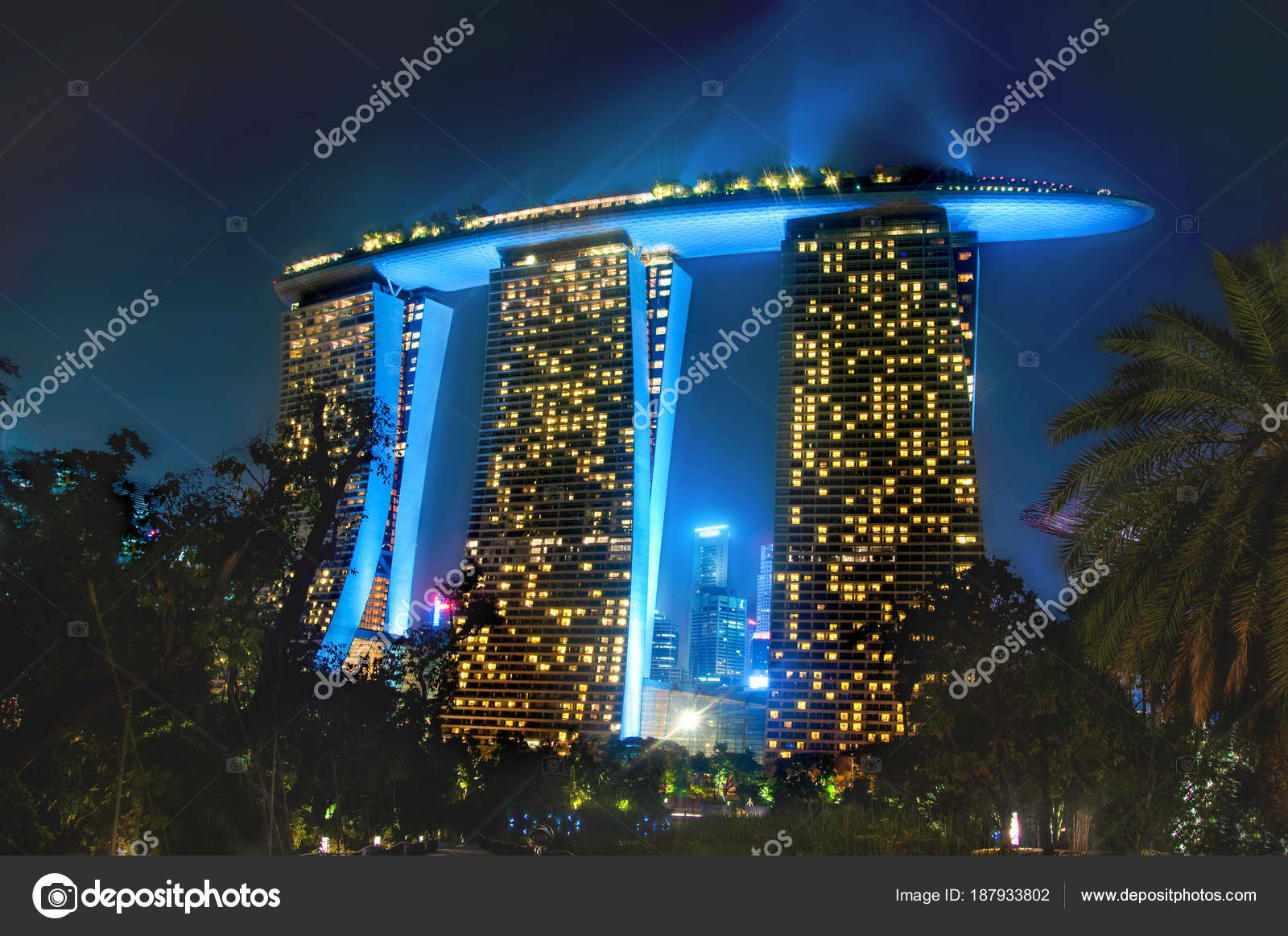 Unique Hotel Marina Bay Sand Singapore Sumer Trip Stock Editorial Photo