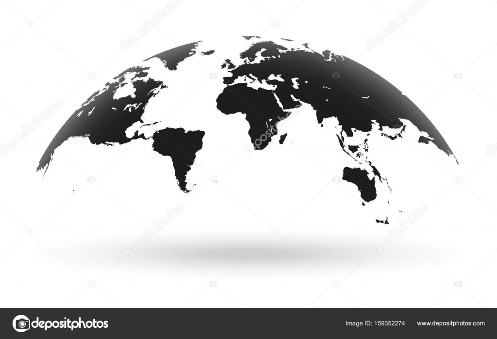 Black world map globe isolated on white background stock vector black world map globe isolated on white background stock vector gumiabroncs