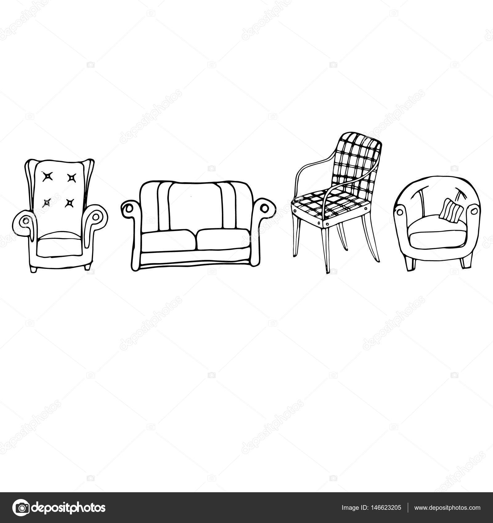 inneren Wohnmöbel Design Vektorgrafik moderne — Stockvektor © dasha ...