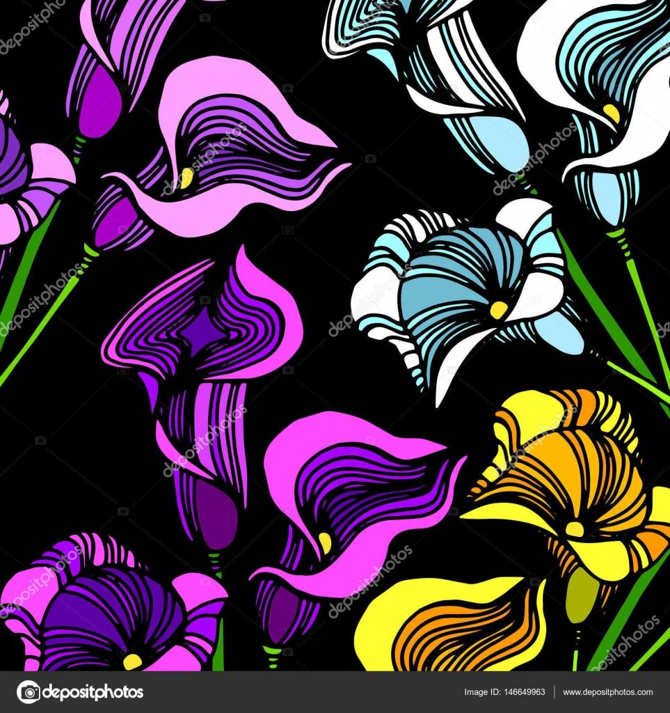 Hochzeit Einladung Callas. Calla Lily Auf Hintergrund. Blumenstrauß.  Hochzeitskarte. Vektor Illustration
