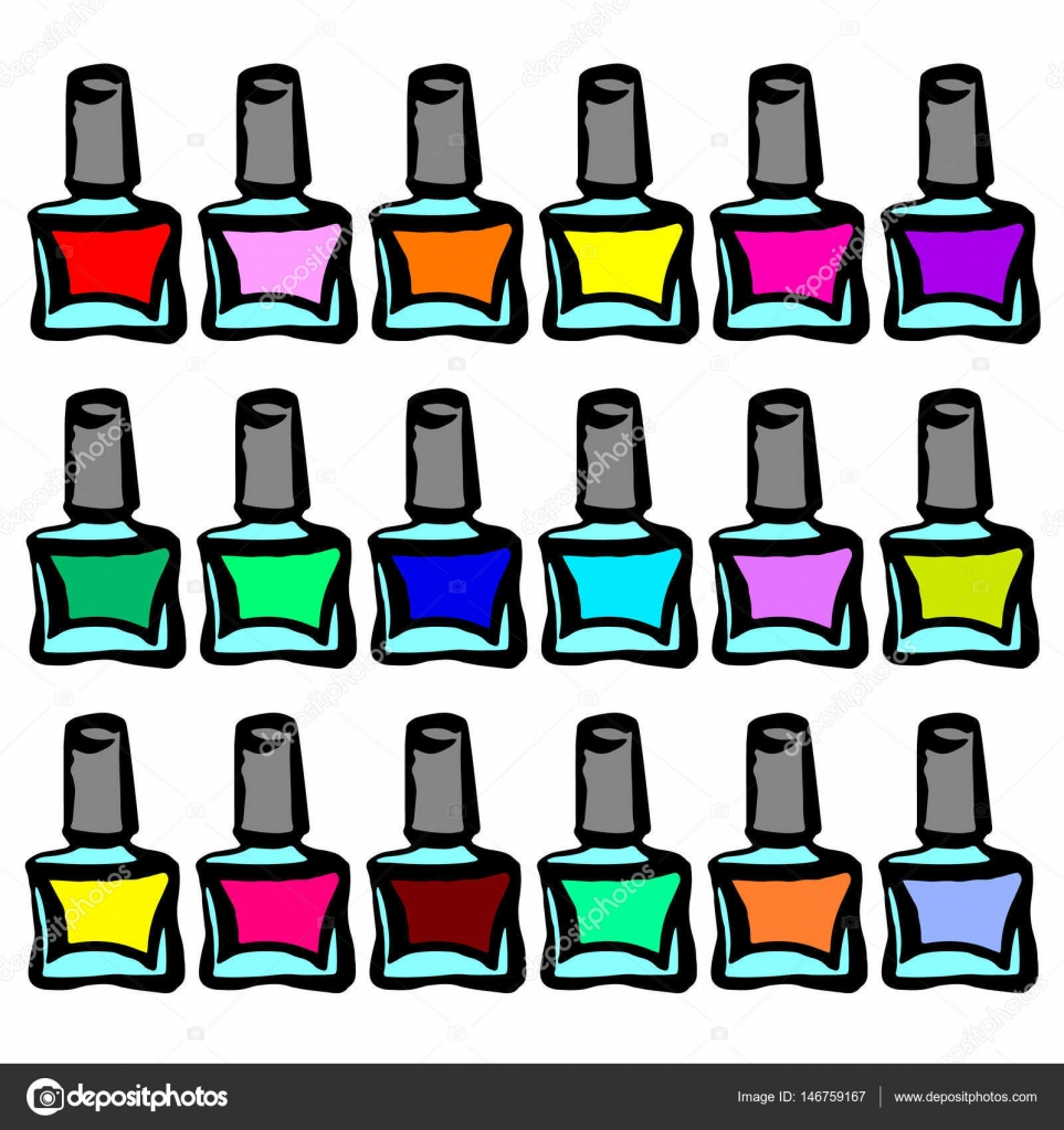 Nagel Salon Logo Nail Polish Een Symbool Van Manicure Design