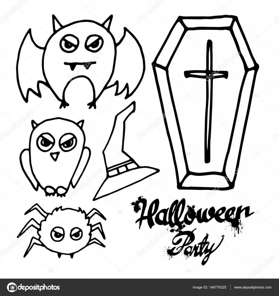 Halloween, murciélago, fantasma, horror, sombrero, octubre, calabaza ...