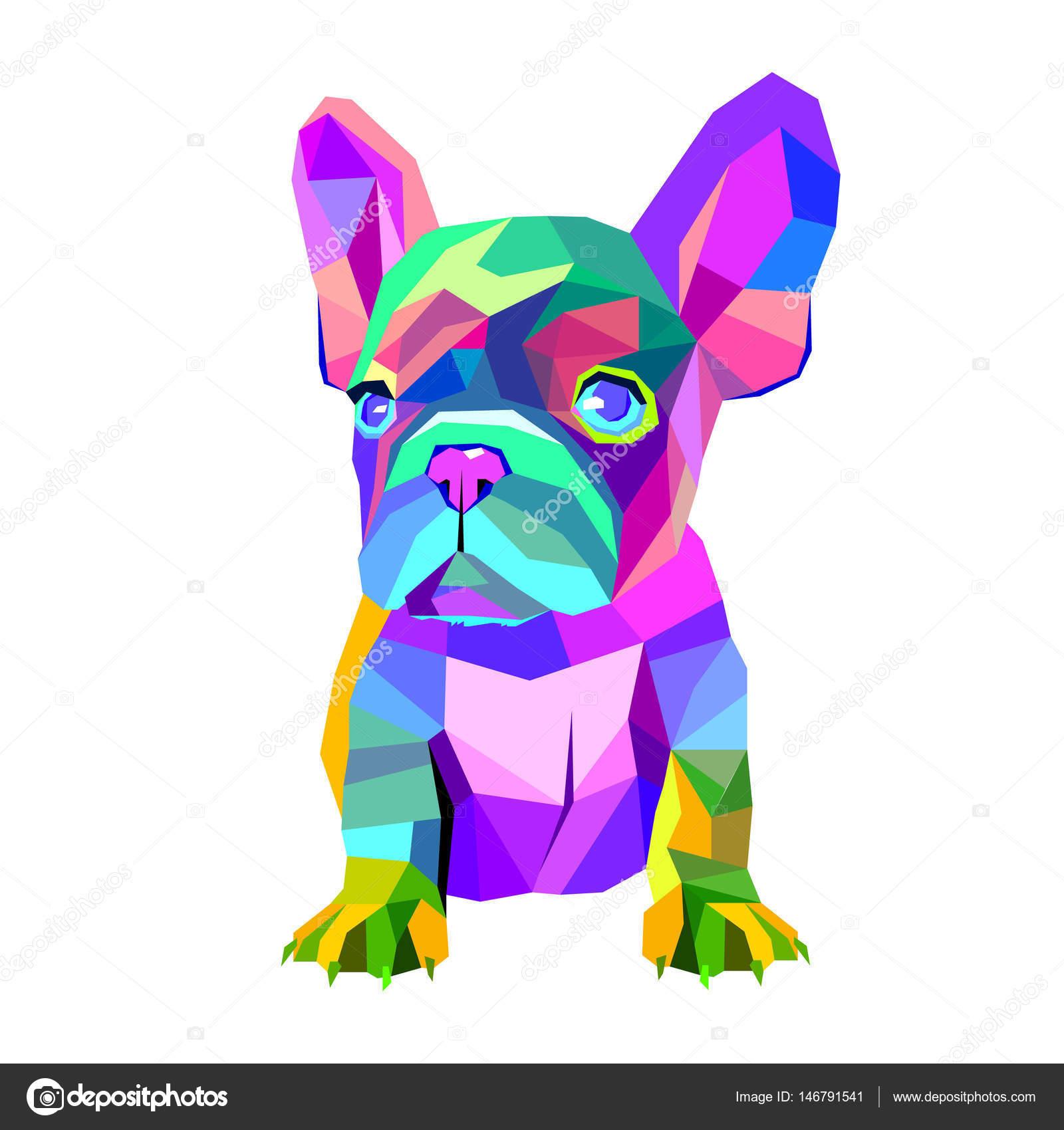 Perro Vector Raza Linda Mascotas Animales Bulldog Francés Vector