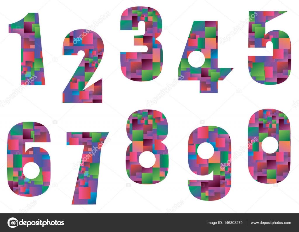 Number vector design symbol numeral school — Stock Vector
