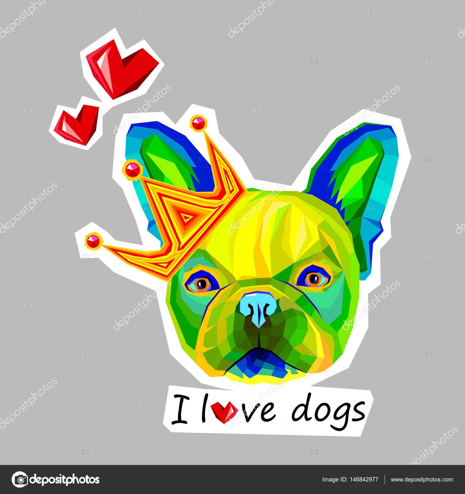 Perro Vector Raza Linda Mascotas Animales Bulldog Francés Archivo
