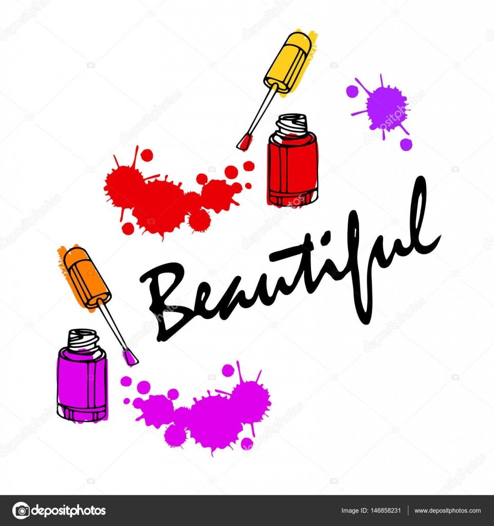 Logos Nails Vector Alternative Clipart Design