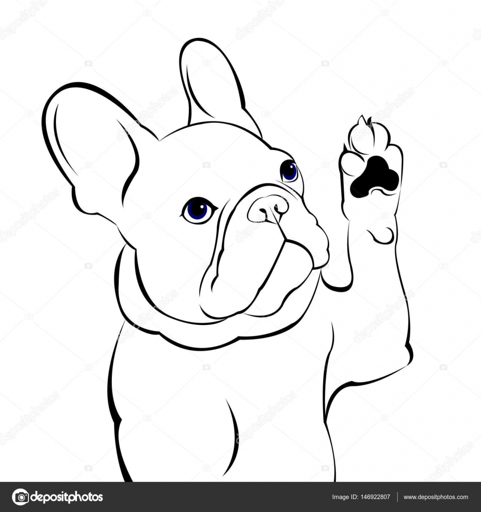 kleurplaat franse bulldog kerst kidkleurplaat nl