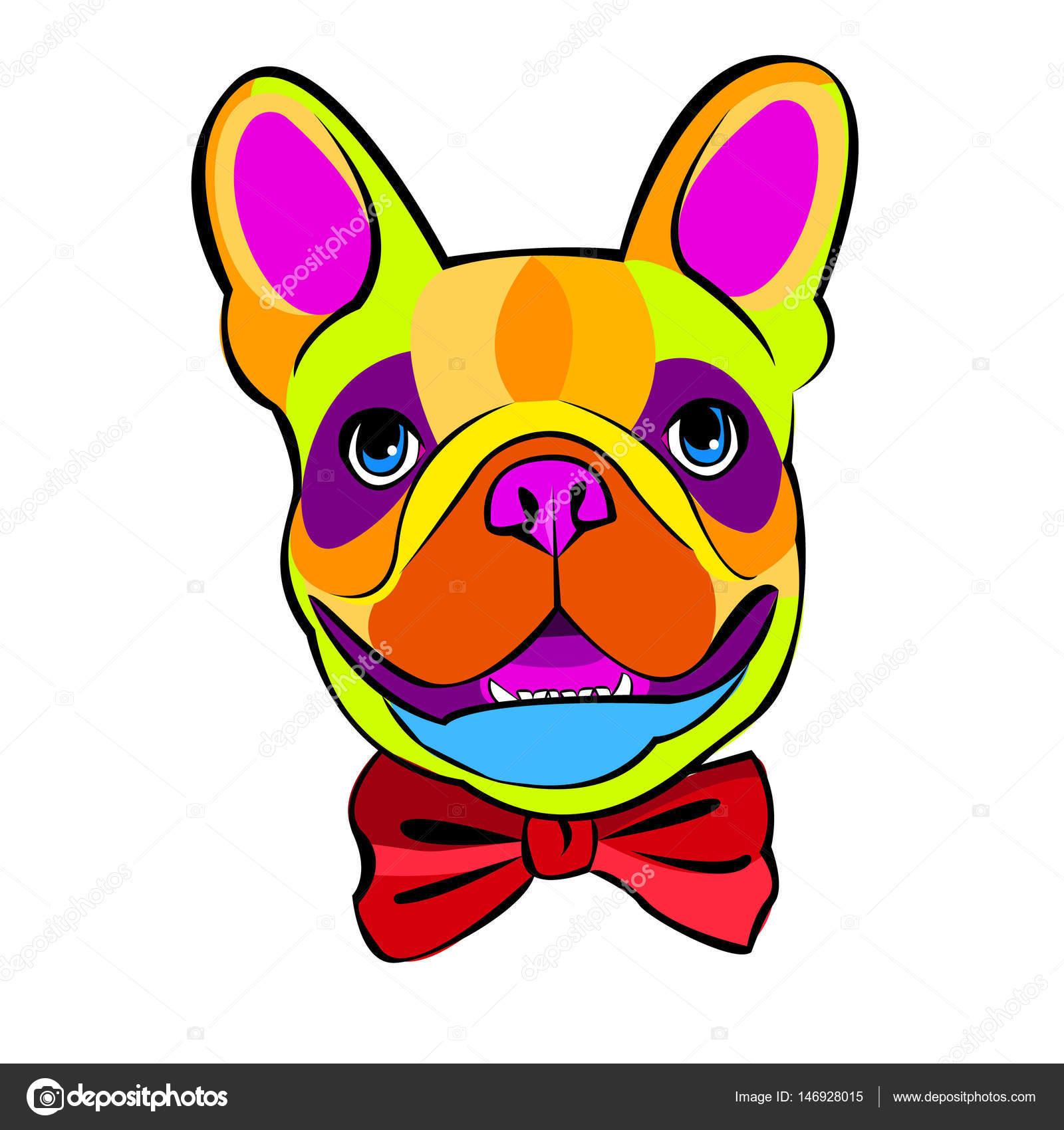 buldogue cão animal francês vetor ilustração animal de