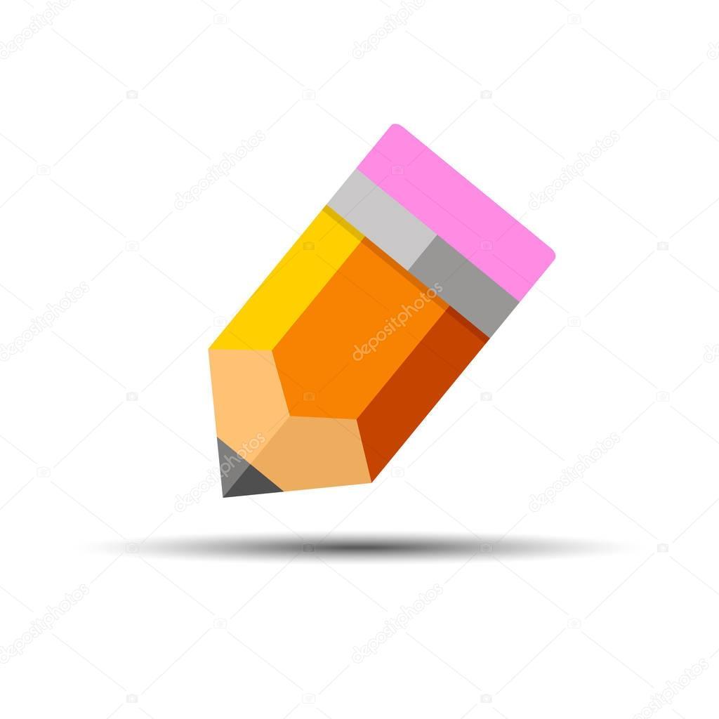 pencil vector illustration school office object design