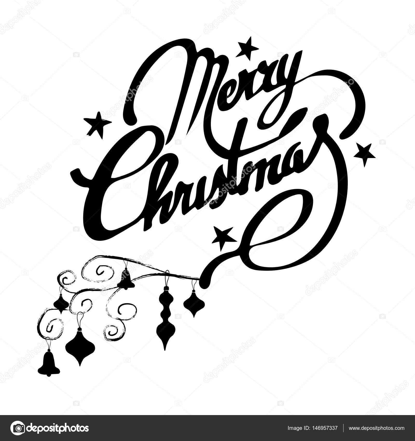 weihnachts banner frohe weihnachten handgeschriebene. Black Bedroom Furniture Sets. Home Design Ideas