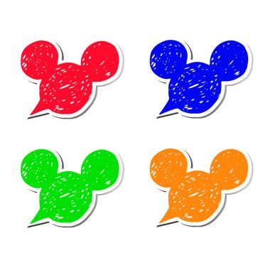 mickey, vector, illustration, icon, mouse, modern, black, sticker, ears, painted Mickey Mouse head