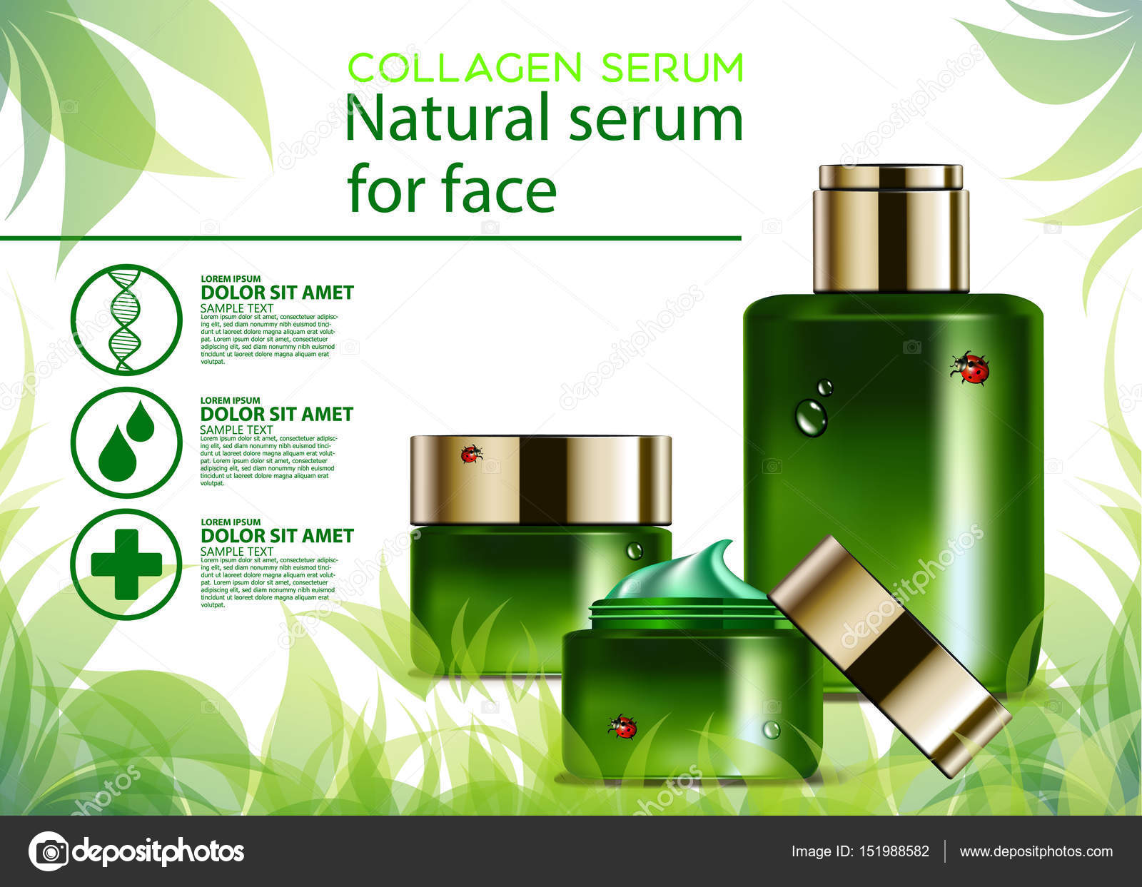 Collagen Beauty Natural Skincare Design Skin Cosmetic Stock Photo C Dasha Kovtun55555 Gmail Com 151988582