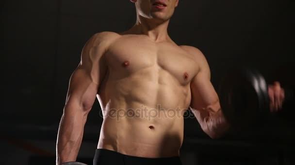 Fitness modèle vidéo nue
