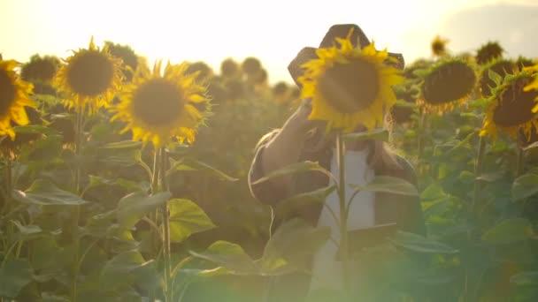A fiatal botanikusok nyári napraforgót figyelnek a pályán.