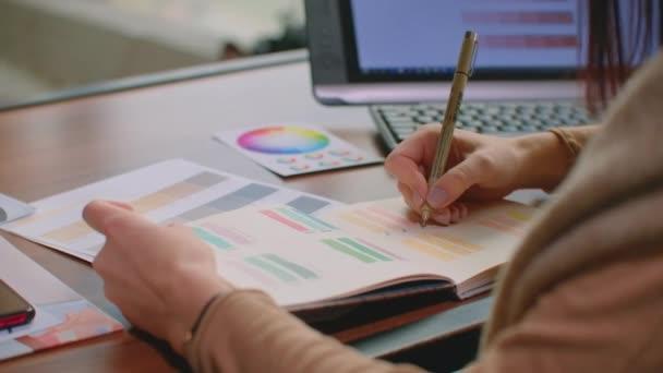 Zobrazit na velké list dokument white paper plátna slovo kaligrafií napsána nahoře pomocí štětce s černým inkoustem návrhář písma nebo tvůrčí umělec na volné noze pracuje na projektu v domácím studiu