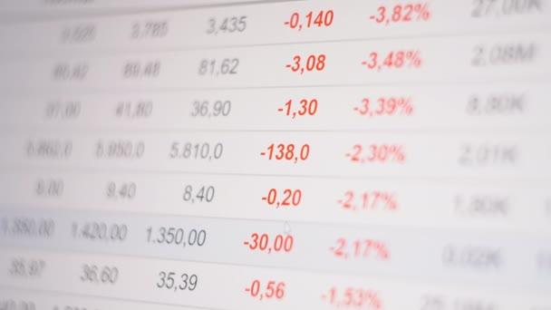 Stock market crash, figures changing on ticker display, global economic crisis.