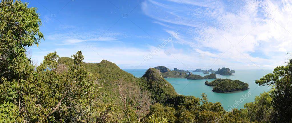 Panorama view of archipelago Island.