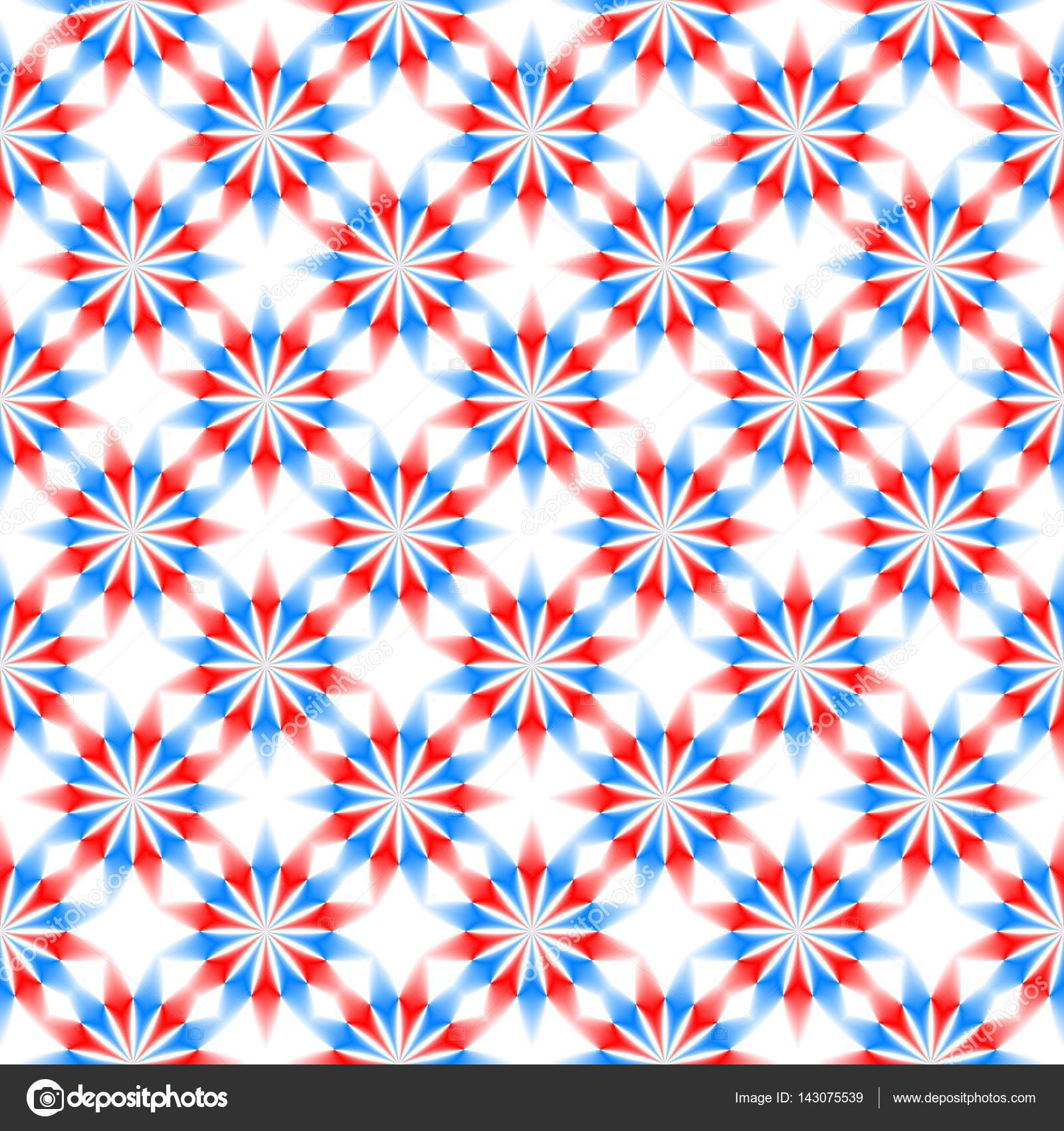 Abstract Red Blue And White Floral Pattern Simple Texture