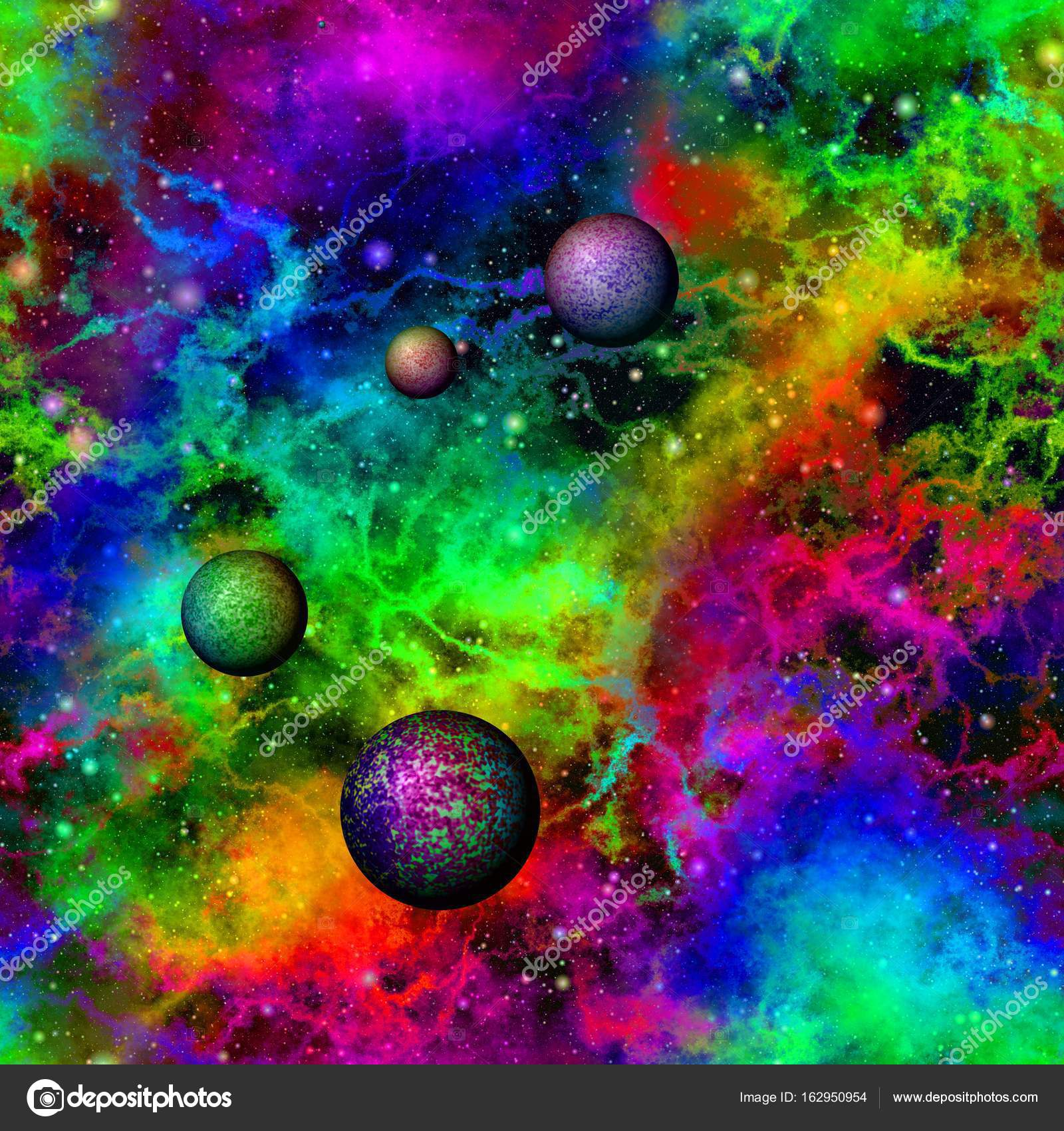 Picture: rainbow from space | Abstract colorful universe