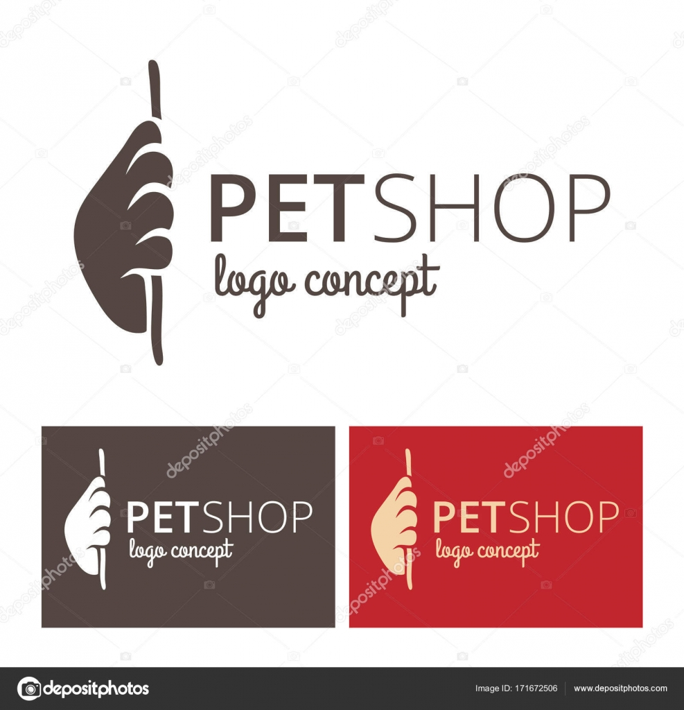 vector logo design template for pet shops or veterinary clinics