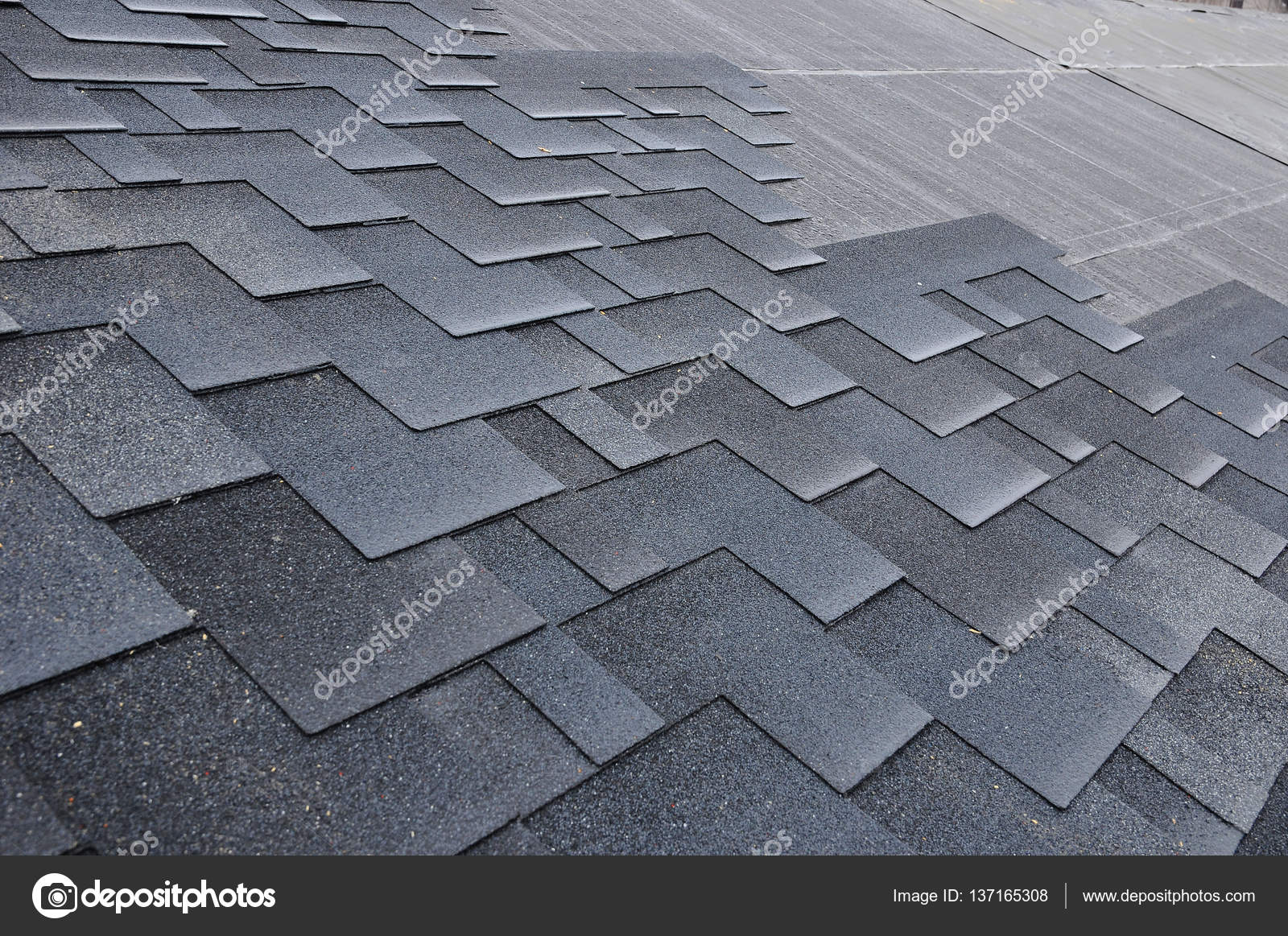 Modified Roofing Materials : Roof bitumen newly installed modified roofing