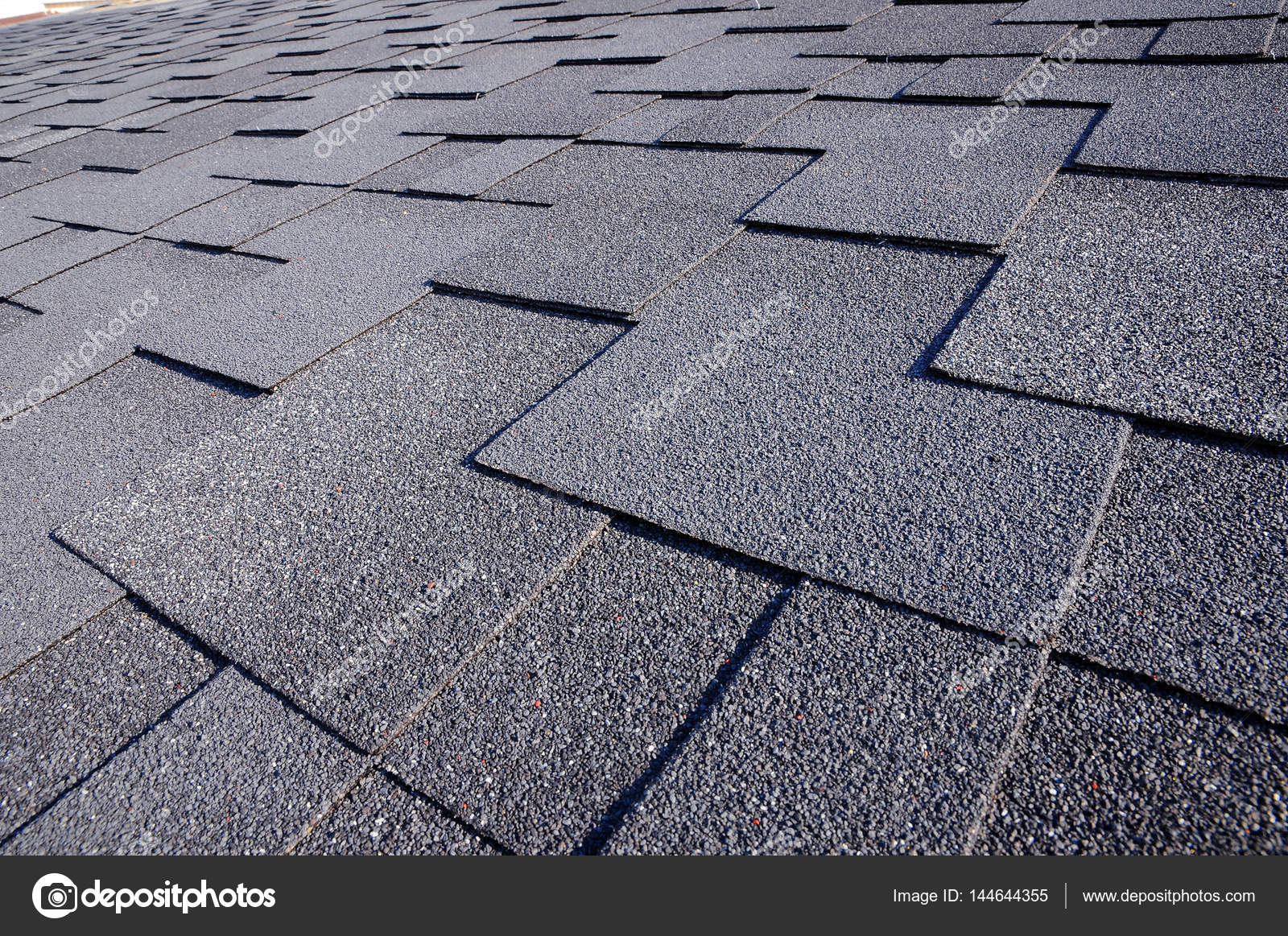 Close up view on Asphalt Roofing Shingles Background  Roof