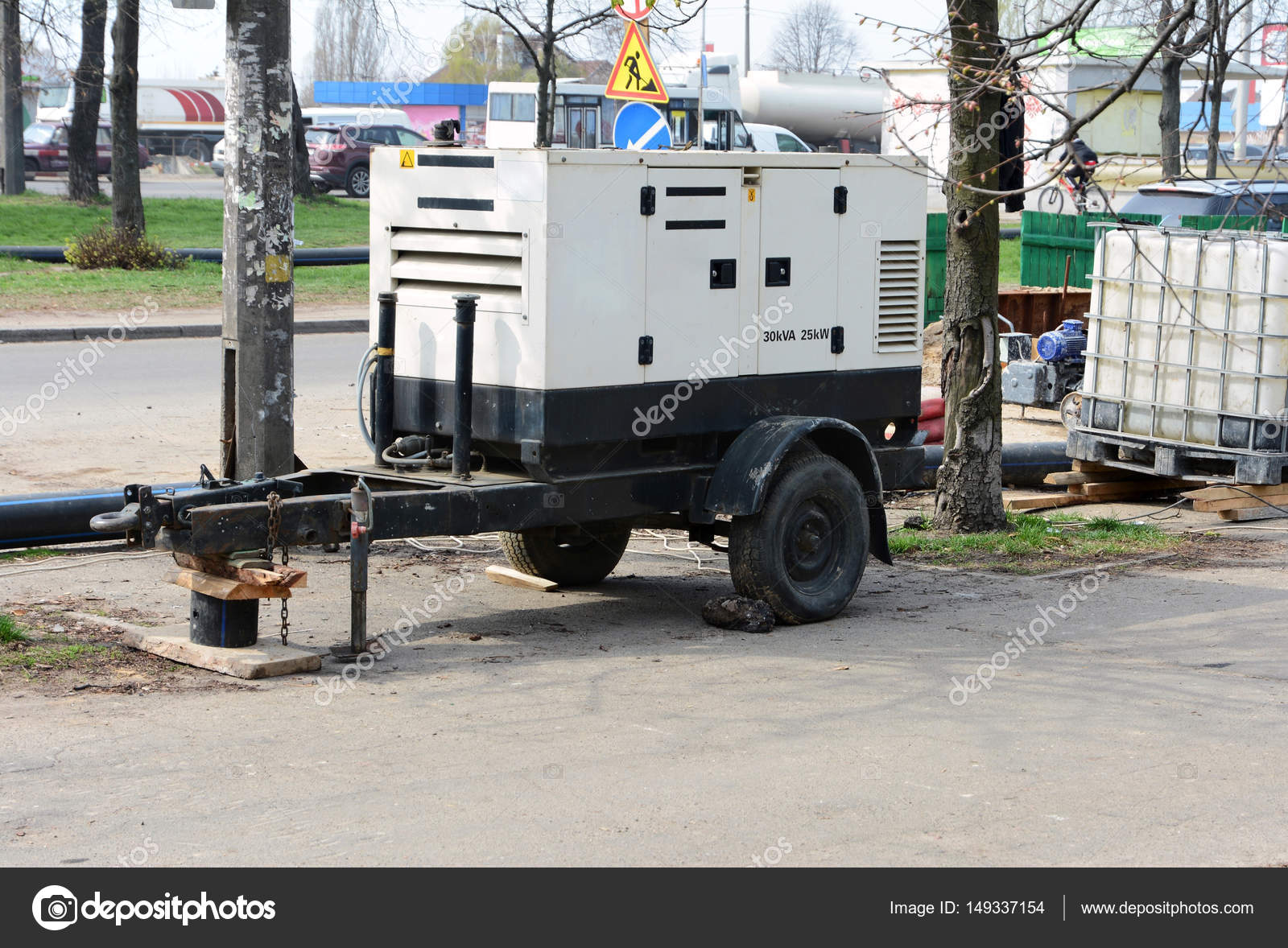 Electric Diesel Mobile Trailer Generator  Use A Mobile