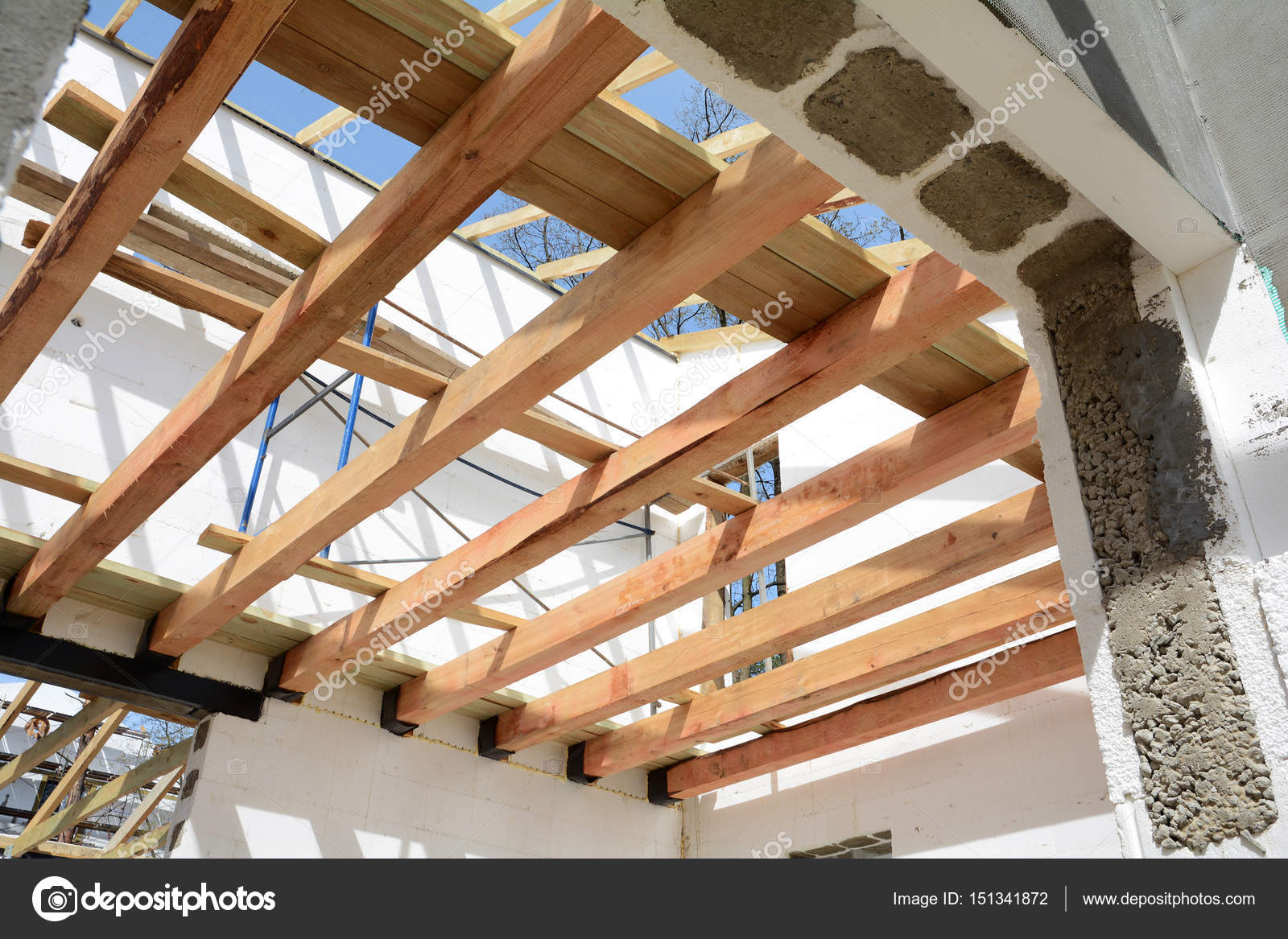 the wooden structure of the building wooden frame building wooden roof construction photo for home house building installation of wooden beams at - Wood Frame Building