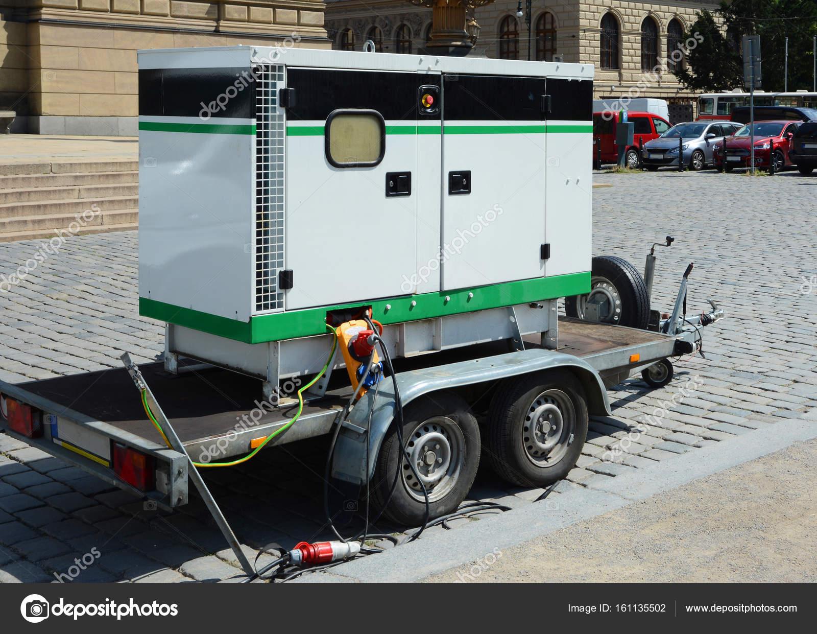 Diesel-Generator für elektrische Notstrom. Elektro-Diesel-Generator ...