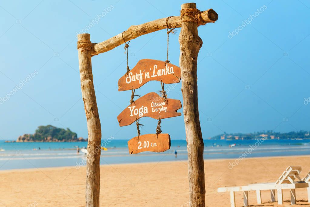 schedule at the resort, surfing, yoga classes on Sri Lanka