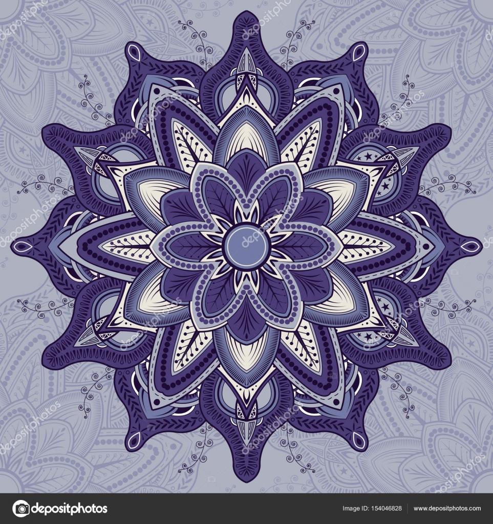 Coloriage Mandala Couleur.Livre De Coloriage Mandala Couleurs Orientales Image Vectorielle