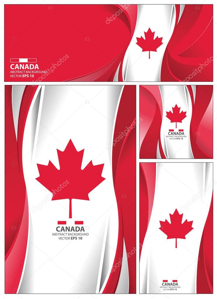 Abstract Canada Flag Background
