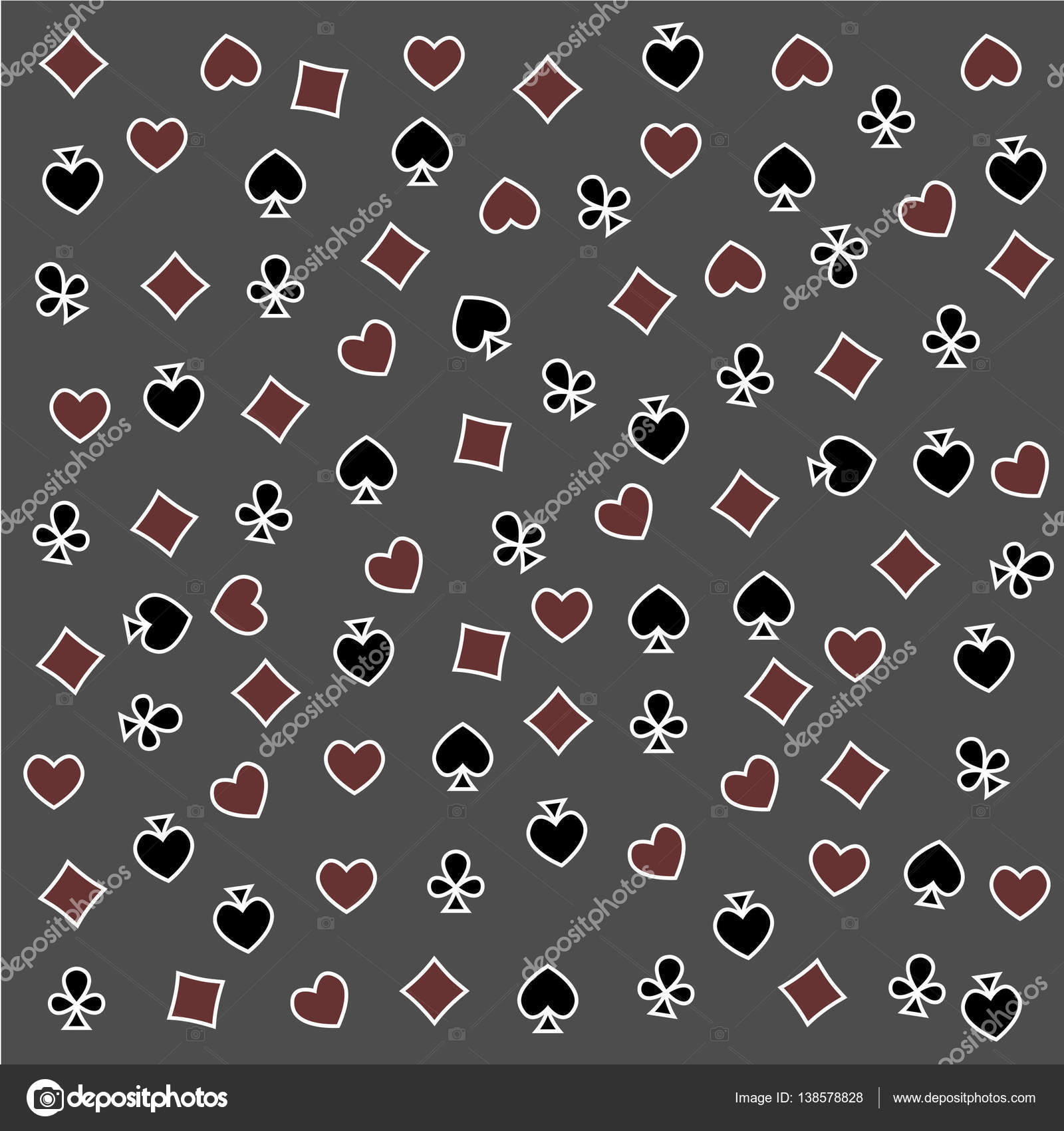 The seamless pattern made out of casino symbols stock photo the seamless pattern made out of casino symbols heart diamond spade and clubs background the casino symbols background photo by truman43 biocorpaavc Gallery