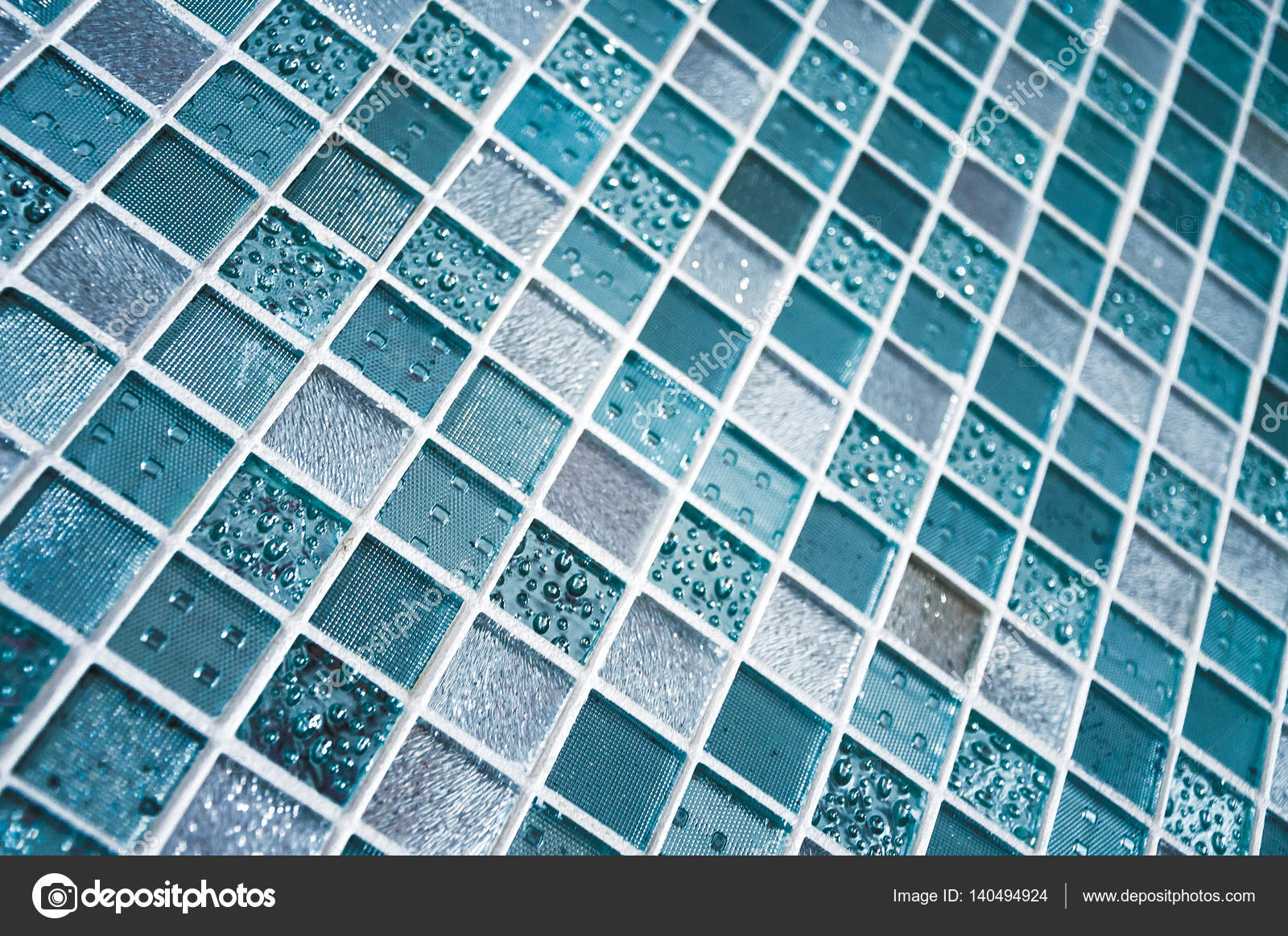 Colorful Ceramic Mosaic Tiles (White, Light Blue, Grey, Blue, eladon ...