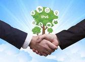Technologie, Internet, obchod a sítě koncept. Obchodní