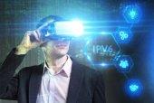 Fotografie Business, Technologie, Internet und Netzwerk-Konzept. Junge busine
