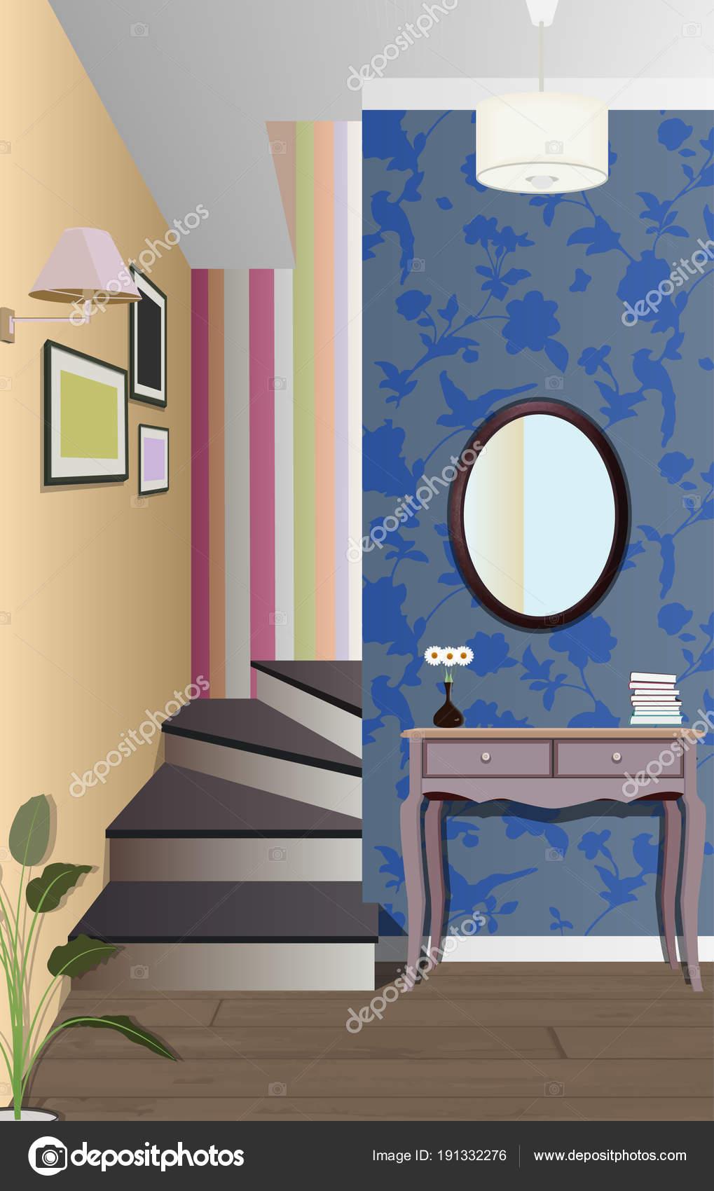 Beeindruckend Möbel Für Den Flur Foto Von Vintage Interieur Der Mit Einer Treppe. Gestaltung