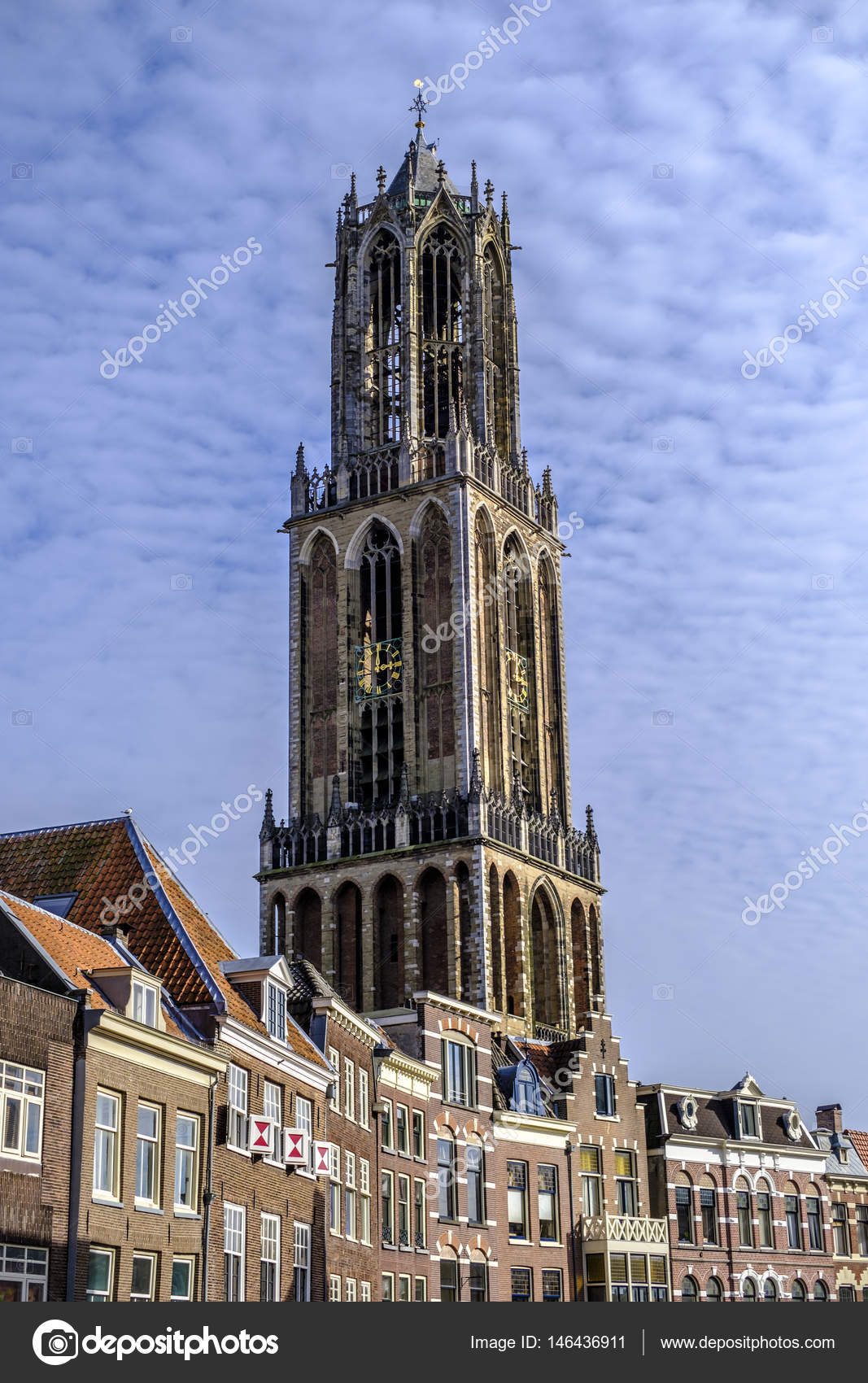 Dom tower utrecht, holland — Stock Photo