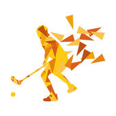 Floorball man player floor hockey abstract background illustrati