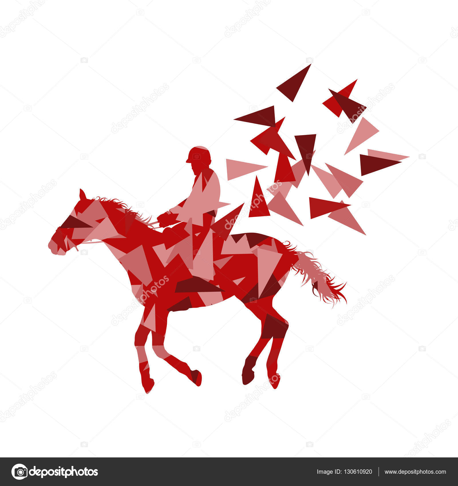 Horse Riding Vector Background Abstract Illustration Concept Mad Stock Vector C K3studija 130610920