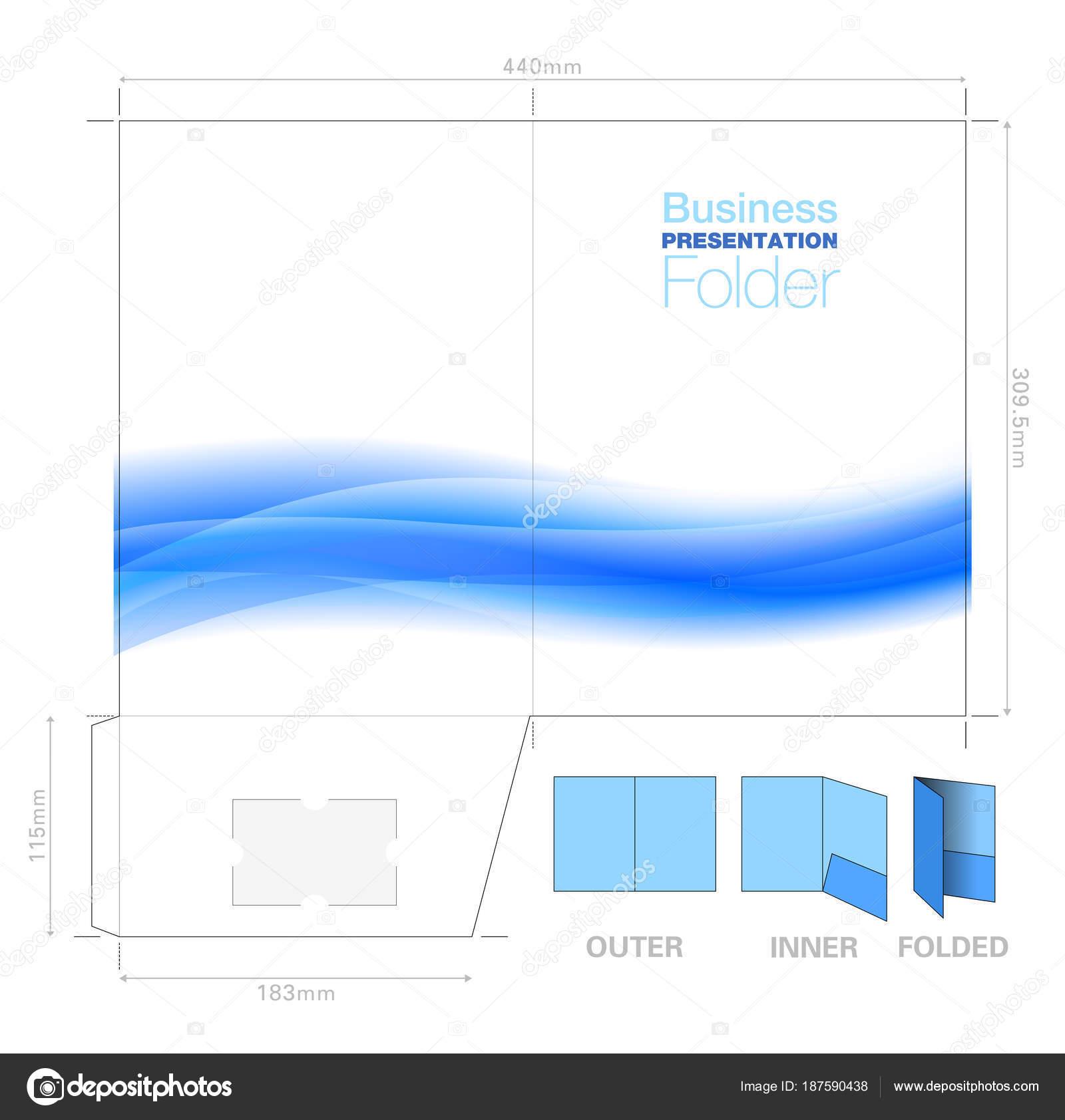 Presentación carpeta A4, plantilla con gráfico de flujo de fondo ...
