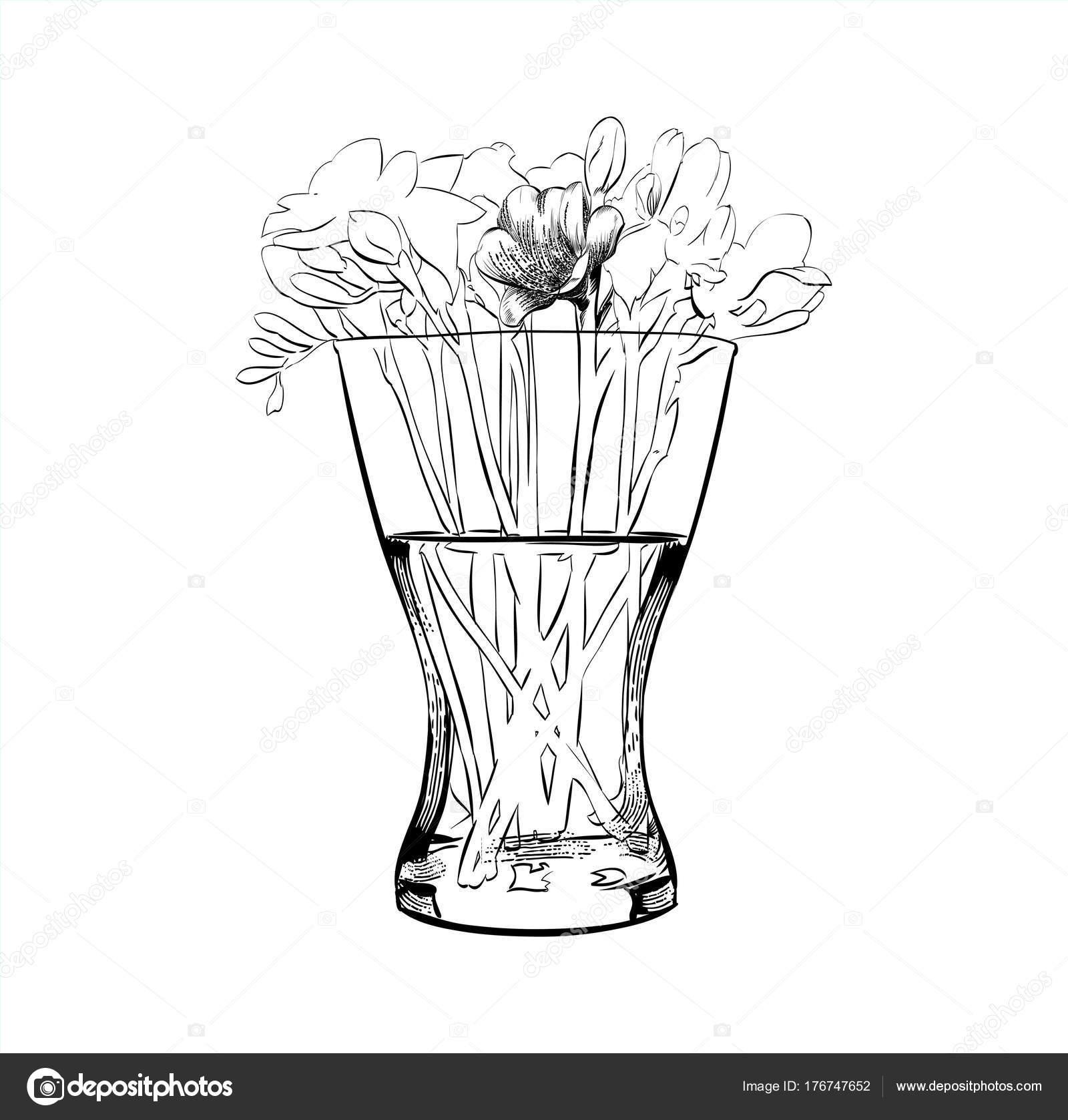 Flower vase vase of flowers flat style vector illustration flower vase vase of flowers flat style vector illustration stock vector reviewsmspy
