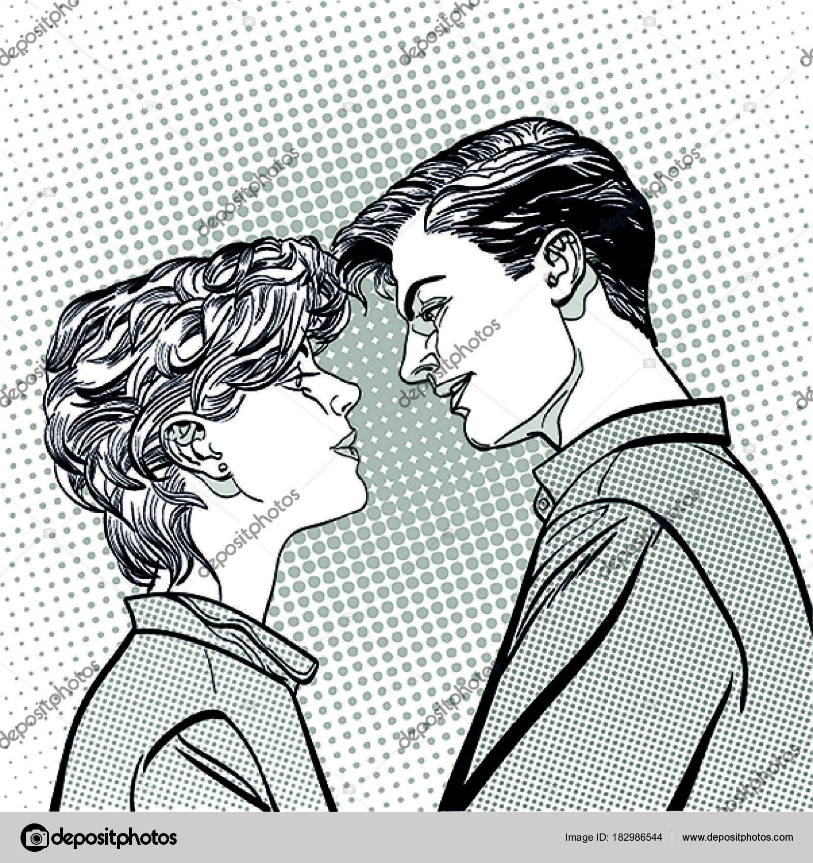 恋人のカップルが、ロマンチックなキスのキスします。ロマンスの