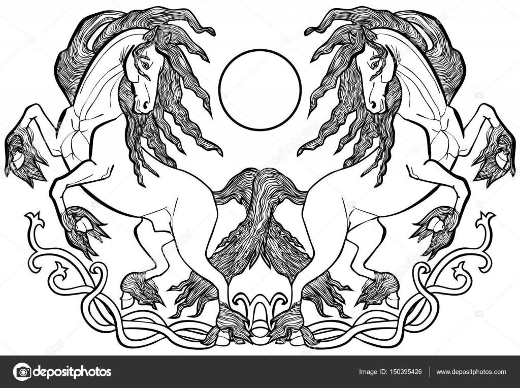 Illustrazione Di Frisoni Neri Vettoriale Illustrazione Frisone