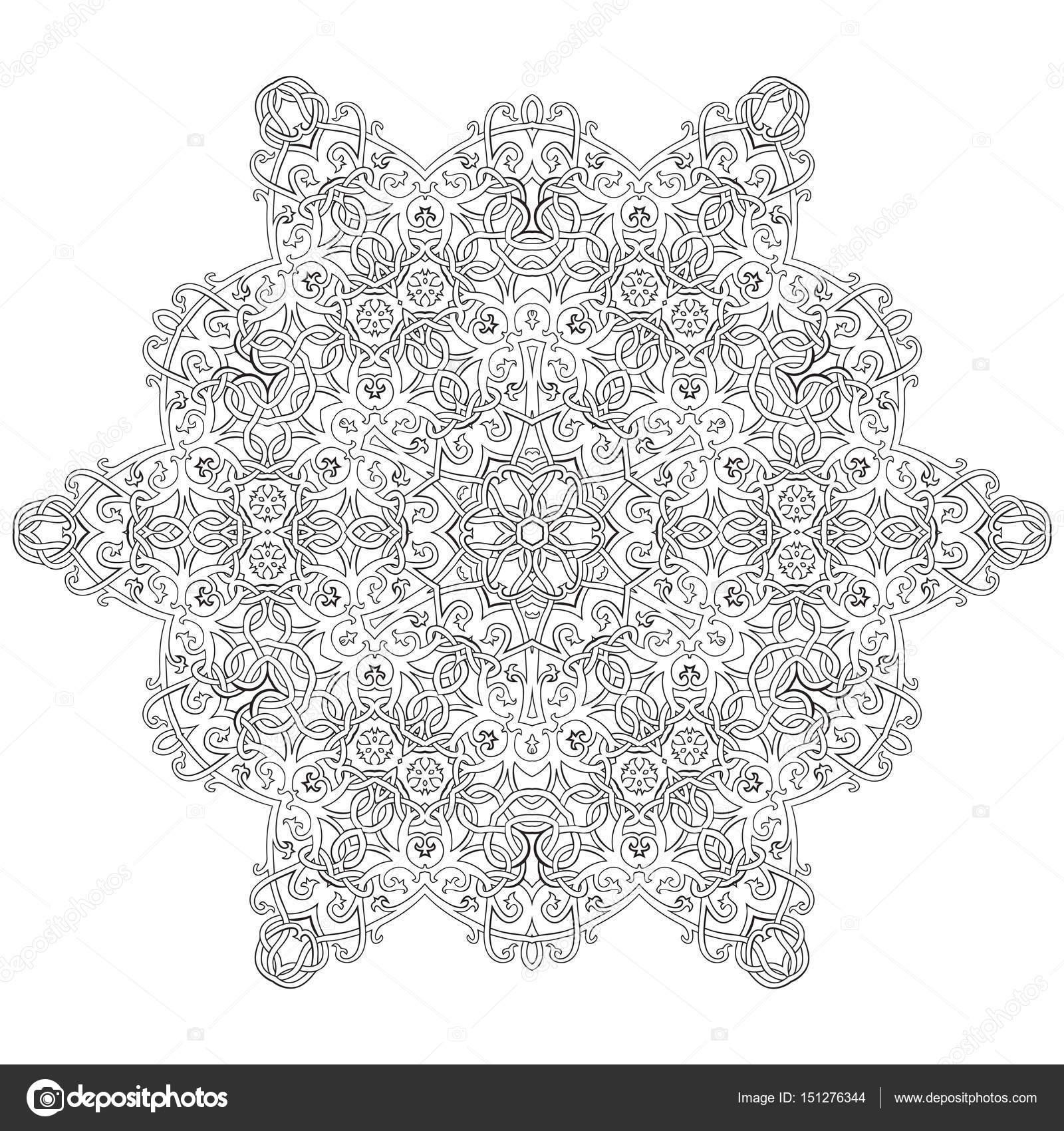 Kleurplaten Keltische Mandala.Vectorillustratie Van Keltische Knoop Stijl Kleurplaat Mandala Boek